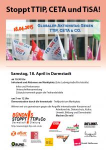 20150418 Werbeflyer Aktionstag gegen TTIP